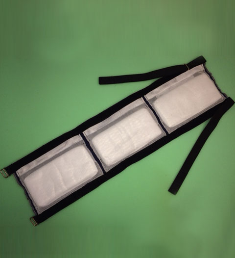 Belt with insulating pads